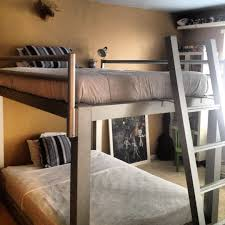 Queen Size Loft Bed Plans by Bunk Beds Free 2x4 Bunk Bed Plans Queen Over Queen Bunk Bed