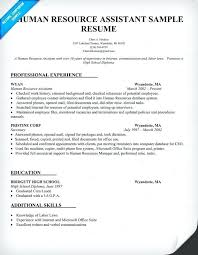 Examples Of A Human Resources Resume As Well Resource Assistant Sample Hr To