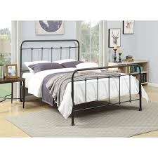 Queen Bed Rails For Headboard And Footboard by Pri All In 1 Brown Queen Bed Frame Ds 2645 290 The Home Depot