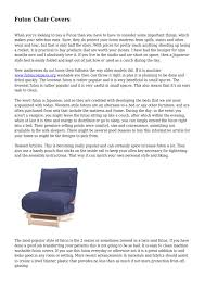 Futon Chair Covers By Largeprogressio81 - Issuu
