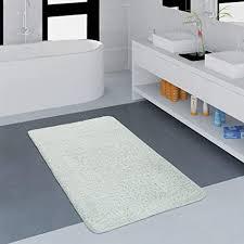 paco home badezimmer teppich einfarbig kuschelig gemütlich in versch größen u farben grösse 50x80 cm farbe weiß