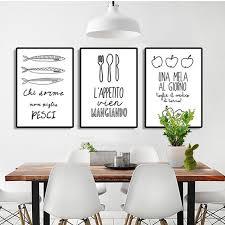 toile de cuisine moderne nordique lettre affiche restaurant cuisine home decor