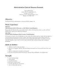 Clerical Work Resume Samples Free Resumes Examples Of Throughout Duties