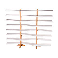 Beauty Product Display Rack Wooden For Hairdressers