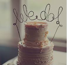Rustic WE DO Cake Topper Banner