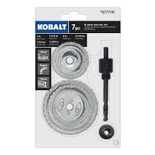 Tile Hole Saw Kit by Shop Kobalt Bi Metal Hole Saw Kit At Lowes Com