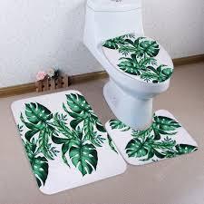 tropisches blatt muster 3 pc toiletten matten bad matte