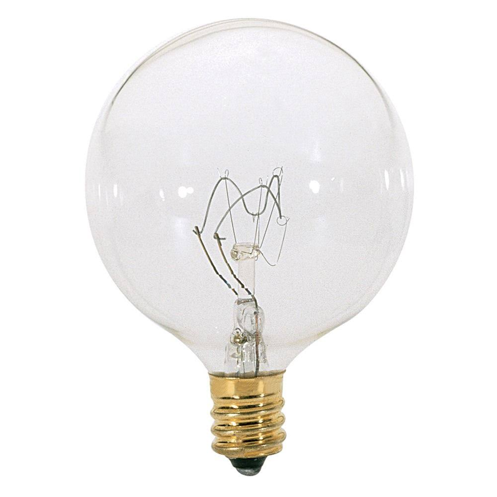 Satco G16 Incandescent Bulb - Clear, Candelabra Base, 60W
