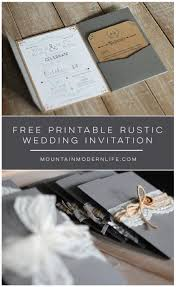 FREE Printable Rustic Wedding Invitation