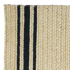 Homespice Decor Jute Rugs by Braided Rug Farmhouse Stripe Natural And Black Homespice
