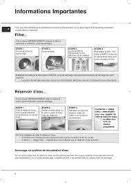 notice seche linge hotpoint ariston informations importantes filtre réservoir d eau hotpoint