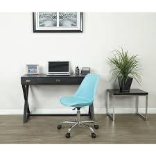 Mainstays Desk Chair Black by Linon Home Decor Draper Aqua Polyester Office Chair 178404aqua01u