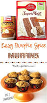 Bisquick Pumpkin Mini Muffins by Pumpkin Spice Muffins Recipe With Cake Mix Just 2 Ingredients
