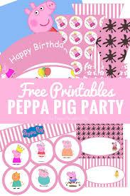 Peppa Pig Pumpkin Stencil by Peppa Pig Party Printables Fun Party Ideas The Purple Pumpkin Blog