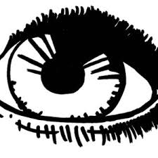 Sketch Of Eyes Coloring Page