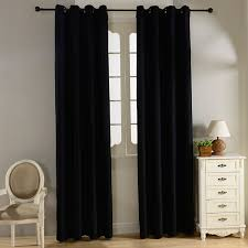 Burgundy Grommet Blackout Curtains by Plain Velvet Cotton Curtains For Living Room Bedroom Door Window