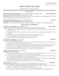 Resume Of A Banker Universal Sample Explore