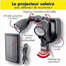 projecteur solaire avec detecteur de mouvement achat vente