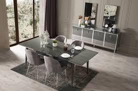 lake esszimmertisch everest mit 6 stühlen in grau moebel