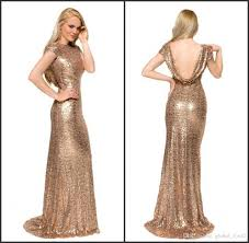 2016 gold sequins blingbling party dresses long mermaid prom
