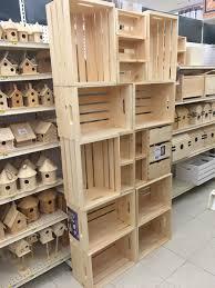 DIY Craft Crate Open Pantry