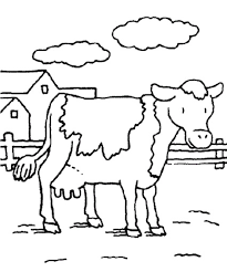 Farm Animal Cow Coloring Pages For Kids
