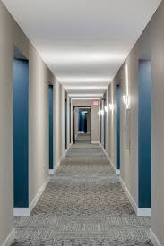 apartment building hallway lighting interior design