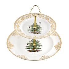 Barcana Christmas Trees Dallas Texas by Spode Christmas Tree Gold Collection 2 Tier Cake Stand Spode Usa
