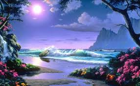 Beautiful Beach Landscape Painting Wallpaper Free Download In High Quality Widescreen Resolutions We Have Top Collection Of Scenery Hd For