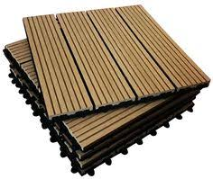 6x wooden interlocking acacia hardwood decking tiles patio