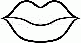 Coloring Book Lips O Clock Page