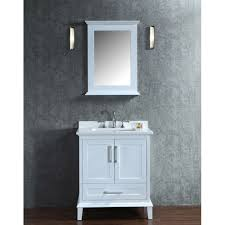 Single Sink Bathroom Vanity Set by Ariel Bath Sc Nan 30 Swh Nantucket White Single Basin Bathroom