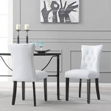 BELLEZE Dining Faux Leather Tufted Accent Living Room Nailhead Button Side  Chairs (Set Of 2) White Skyline Fniture Tufted Ding Chair In Velvet White Room Chairs Sale Balthazar Leather Linen Set Of 2 Back Nailhead Trim Inspired Home Ashton Non Twill Metal Gray At Pottery Barn Diamond Sofa Nolan Leatherette On Charcoal Powder Coat Frame Gramercy Dark Grey Safavieh Mcr4701cset2 Milo 4 By Tallback Natural Fabric Christopher Details About 4x Beige High Upholstered Button Rockefellar Pu Or Square Arms Chrome Gold Jessica Charles Sebastian 1901t