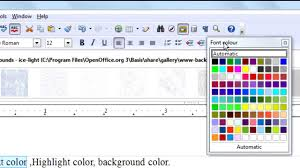 Word Doc Openoffice Org Writer Tutorial Text Color Highlight Sections Headers And Footers Page