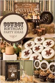 Boys Cowboy Birthday Party Ideas