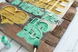 Mint And Mustard Home Is Where The Heart Sign Diy Palletart