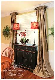 Buffet In Front Of Window Wall Decor Room Dining Windows Dinning