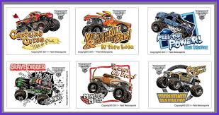 100 Monster Truck Tattoos 24 Jam Temporary Party Favors Brysons 4th