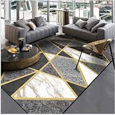 teppich fußmatte modern schwarz weiß grau marmor gold