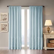Eclipse Thermapanel Room Darkening Curtain by Madison Park Bessie Cotton Horizontal Ruffle Curtain Ebay