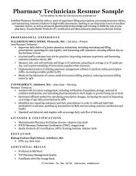 Pharmacy Technician Resume Sample Download