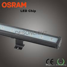 24w 36w 1m 24v led linear wall washer light architectural facade