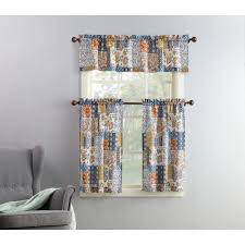 Blue Kitchen Curtains Walmart by Curtain Cute Interior Home Decorating Ideas With Cafe Curtains