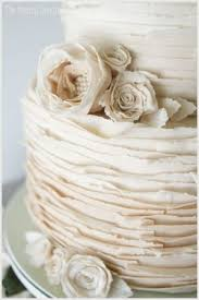 Instead Of A Smooth Surface Glistening Frosting More Cakes Are Sporting Textured Surfaces Including The Modern Ruffle