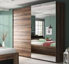 schwebetürenschrank schlafzimmerschrank spiegel 180cm monastery eiche schwarz