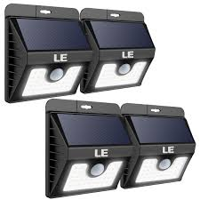Solar Powered Outdoor Wall Lights Daylight White Batteries Included