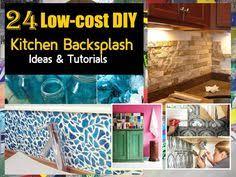 DIY Kitchen Backsplash Colored Glass On Plywood For A Non Permanent
