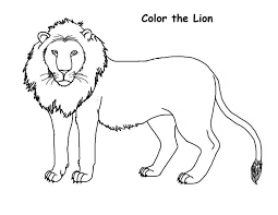 Free Lion Color Page Fresh In Minimalist Picture Coloring