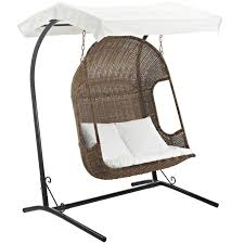100 Retractable Patio Chairs Vantage Outdoor Wood Swing Chair With Sun Canopy