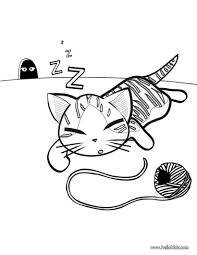Enjoyable Inspiration Cat Coloring Pages In A Basket Cute Kitten Page ANIMAL PET